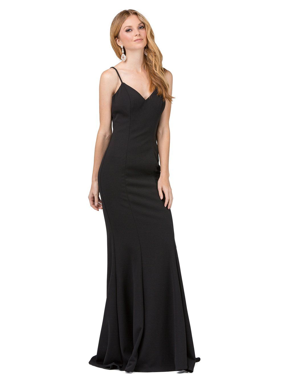 Simple long evening dress DQ2264