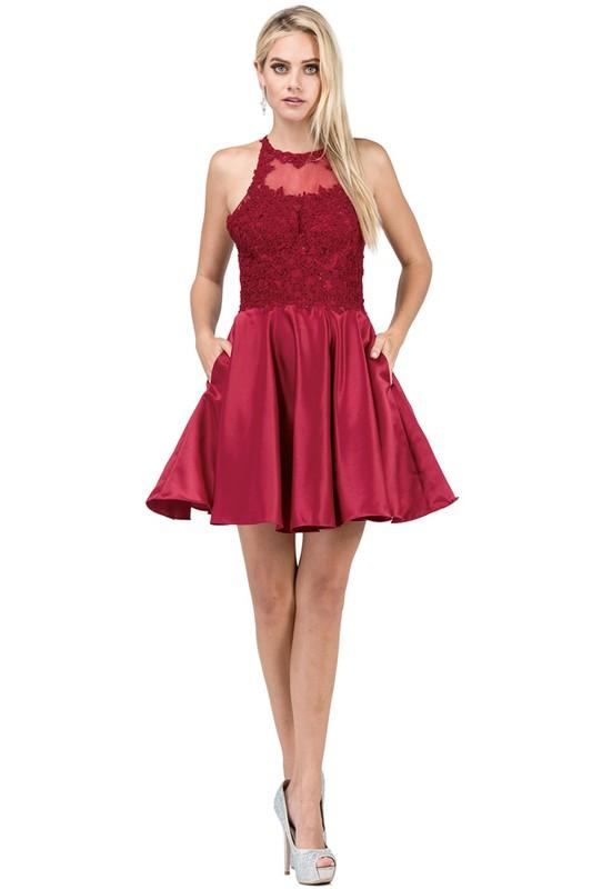 Cute short homecoming dress DS3028-Simply Fab Dress
