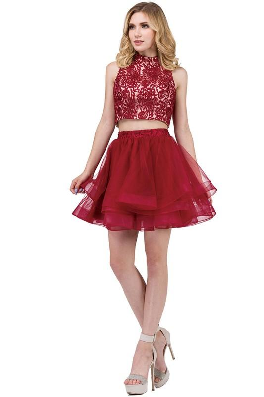 7d817639104 Short two piece homecoming dress DQ 3042-Simply Fab Dress ...