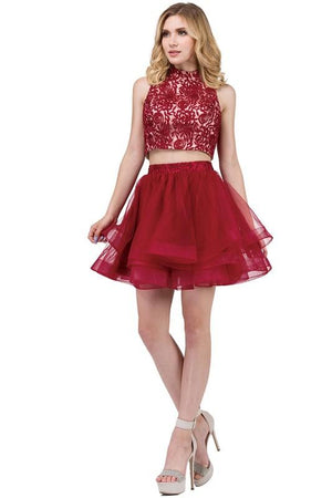 Short two piece homecoming dress DQ 3042-Simply Fab Dress