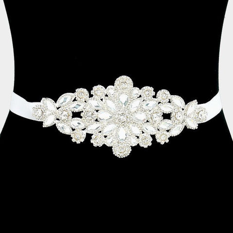 Rhinestone Bridal Belt  30913wb1022 - Simply Fab Dress