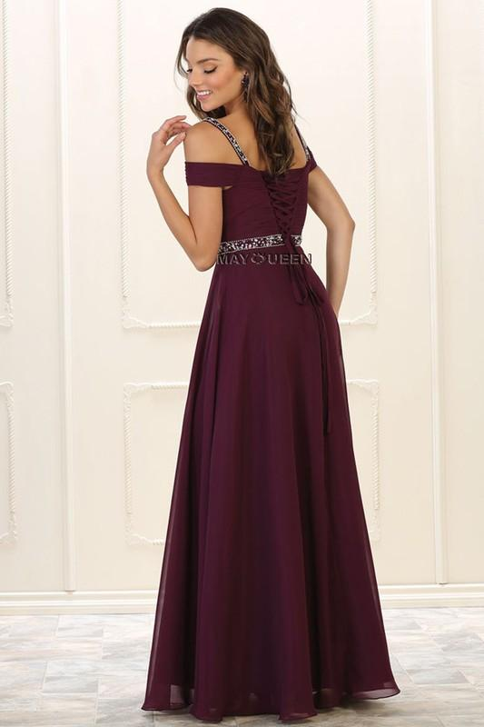Off the shoulder formal dress MQ 1515-Simply Fab Dress