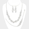 Rhinestone wedding 3pc necklace & bracelet set W#332474 - Simply Fab Dress