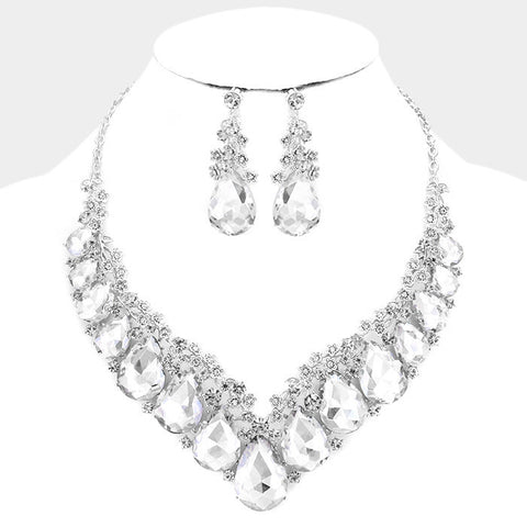 Rhinestone wedding necklace set #w337966 - Simply Fab Dress