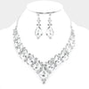 Rhinestone wedding necklace set #w340340 - Simply Fab Dress
