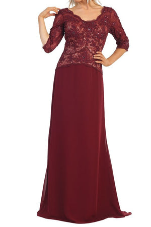 Long sleeve evening dress #mq1114 - Simply Fab Dress