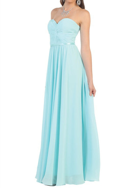 Strapless sweetheart neckline inexpensive bridesmaid dress mq1145 - Simply Fab Dress
