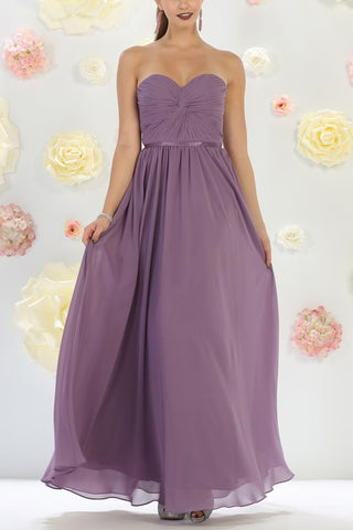 Strapless sweetheart neckline inexpensive bridesmaid dress mq1145EU2611 - Simply Fab Dress