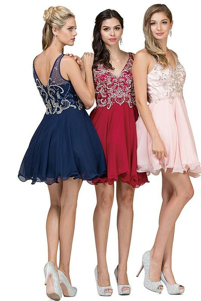 Sparkly short prom dress dq9998-Simply Fab Dress