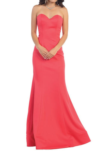 Strapless sweetheart neckline  mermaid Bridesmaid dress 100-rq7305 - Simply Fab Dress