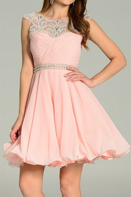 Beaded Ruched Top Cocktail Homecoming Dress 101-7240 Prom dress ...