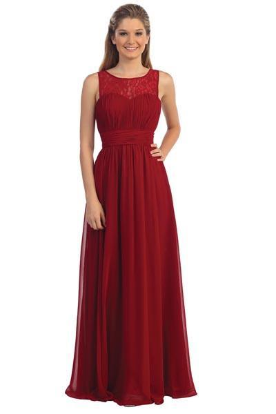 Simple burgundy prom Dress DQ9111-Simply Fab Dress