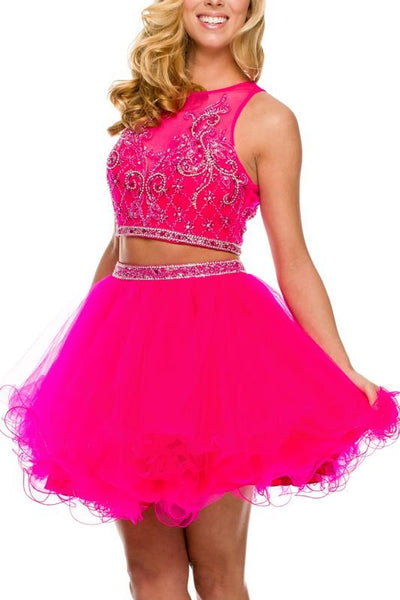 9e17f0d7 Sparkly two piece prom dress 097-550 – Simply Fab Dress