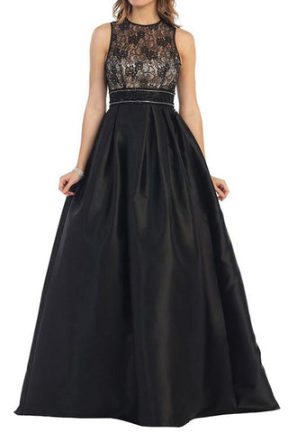 Lace top a-line ball gown formal dress # Mq rq7353 - Simply Fab Dress