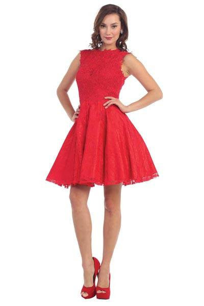 short cocktail dress mq-1273 - Simply Fab Dress