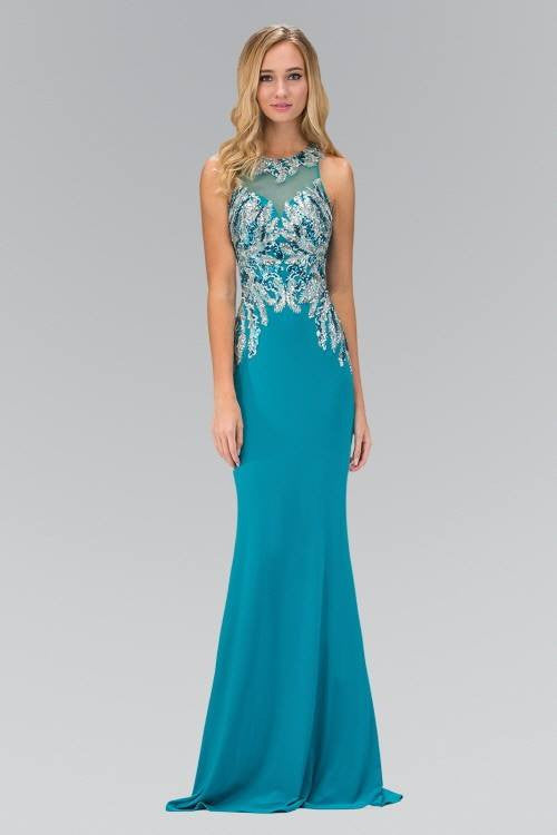 Sequins bodice long fitted formal dress and evening gown 103 ...