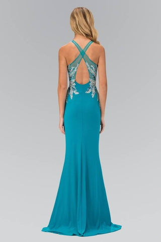 Sequins bodice long fitted formal dress and evening gown 103-GL1387 Prom dress Evening gown - Simply Fab Dress