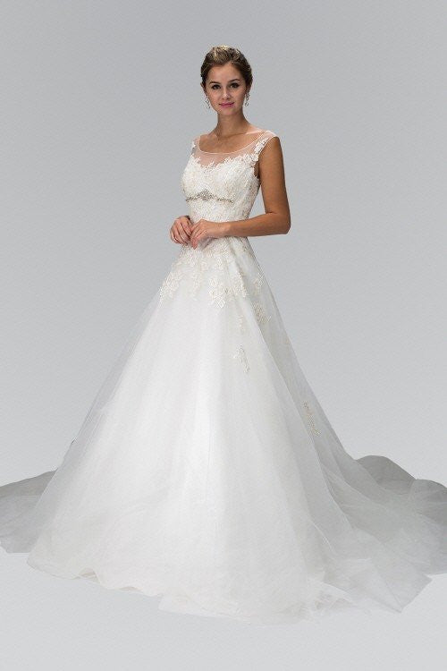 A-line Ballgown Wedding dress gl1355 Wedding Dress Affordable wedding dress - Simply Fab Dress