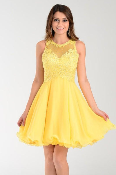 Lace top Short homecoming dress poly #7456 - Simply Fab Dress