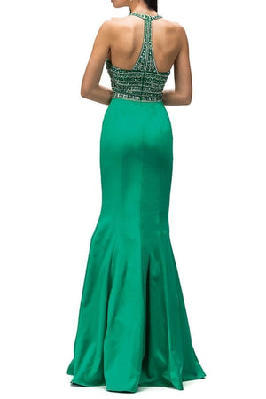 Mermaid Style High neck prom Dress DQ9355-Simply Fab Dress