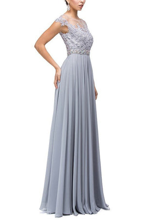 Floor length formal dress dq9400 - Simply Fab Dress