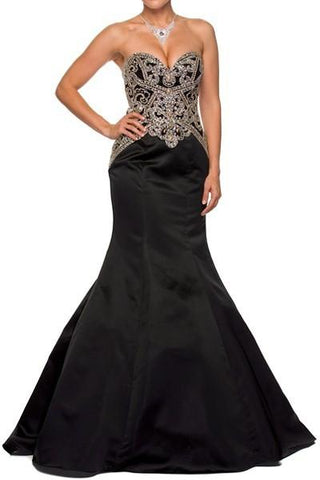 Strapless mermaid pageant dress 105-622