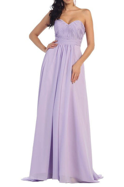 Strapless Bridesmaid dress 100-mq1257 - Simply Fab Dress