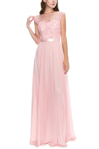 Plus size long chiffon evening dress - juliet 584