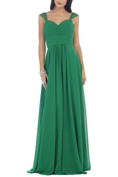 Sweetheart neckline long chiffon cheap bridesmaid dress #mq1275 - Simply Fab Dress