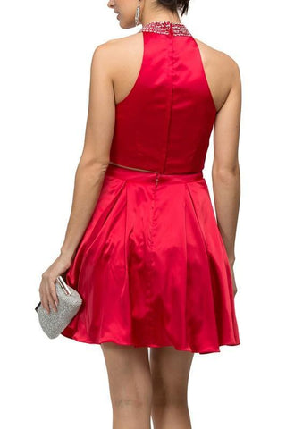 Two piece inexpensive homecoming dress DQ9495 - Simply Fab Dress