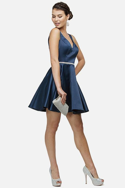 Inexpensive short navy  formal dress  DQ9504 - Simply Fab Dress