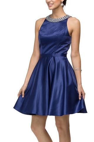 Puffy Blue Quinceanera Dress Dq1287