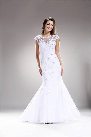 Mermaid Fitted Wedding Gown 108-AB5263 Wedding Dress Affordable wedding dress - Simply Fab Dress