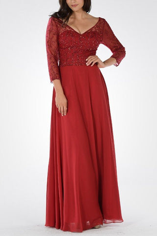 Long chiffon Bridesmaid dress BB 097-808 - Simply Fab Dress