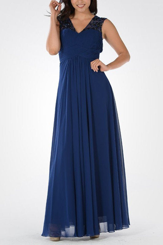 Long chiffon Bridesmaid dress BB 097-874 - Simply Fab Dress