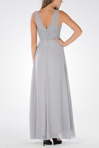 Long chiffon Bridesmaid dress BB 097-878 - Simply Fab Dress