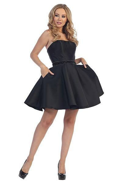 Chic and sexy short black homecoming dress let6018 - Simply Fab Dress