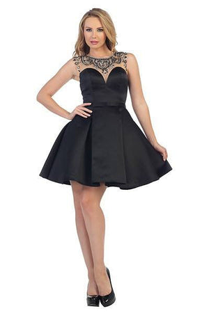 Sweetheart Satin Cocktail Homecoming 2016 107-6025 - Simply Fab Dress