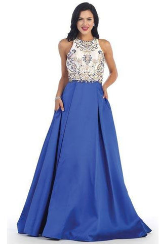 Beautiful evening dress 100-rq 7429 - Simply Fab Dress
