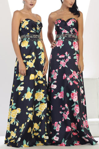 Gorgeous floral print formal dress #Mq1403 - Simply Fab Dress
