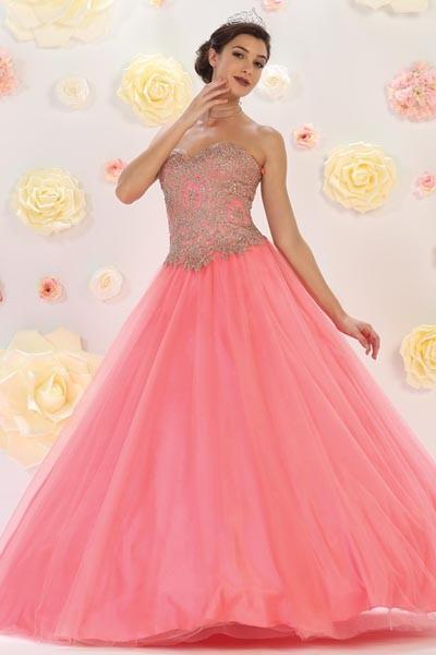 Cheap pink sweet 16 quinceanera dress Mayqueen LK74 - Simply Fab Dress