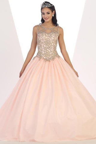 7df7fc50dfa Gold lace top cheap quinceanera Dress Mayqueen LK72 - Simply Fab Dress