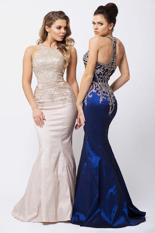 Champagne long evening gown  GLS 1565C