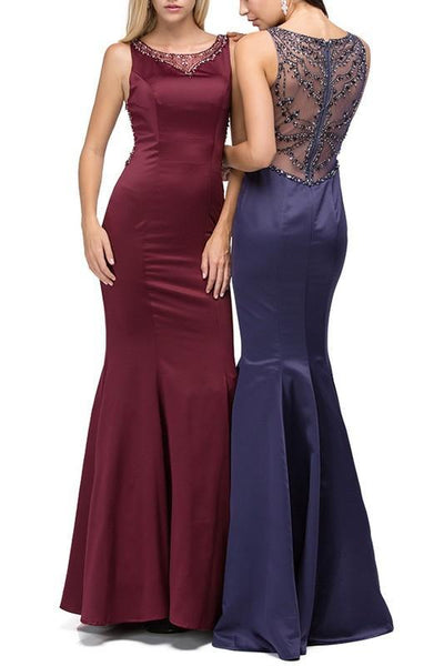 Satin Prom Gowns