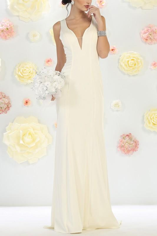 Informal Wedding dress & Ivory Dress Mq1431-Simply Fab Dress