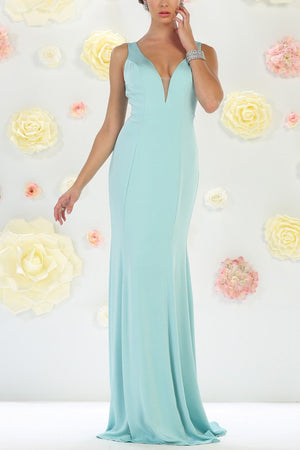 Elegant long bridesmaid dress mq1431 - Simply Fab Dress