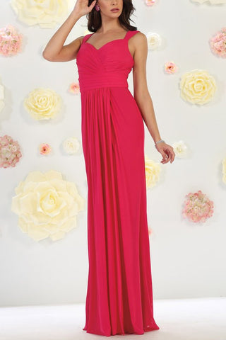 Sweetheart neckline long chiffon cheap bridesmaid dress Mq1470 - Simply Fab Dress