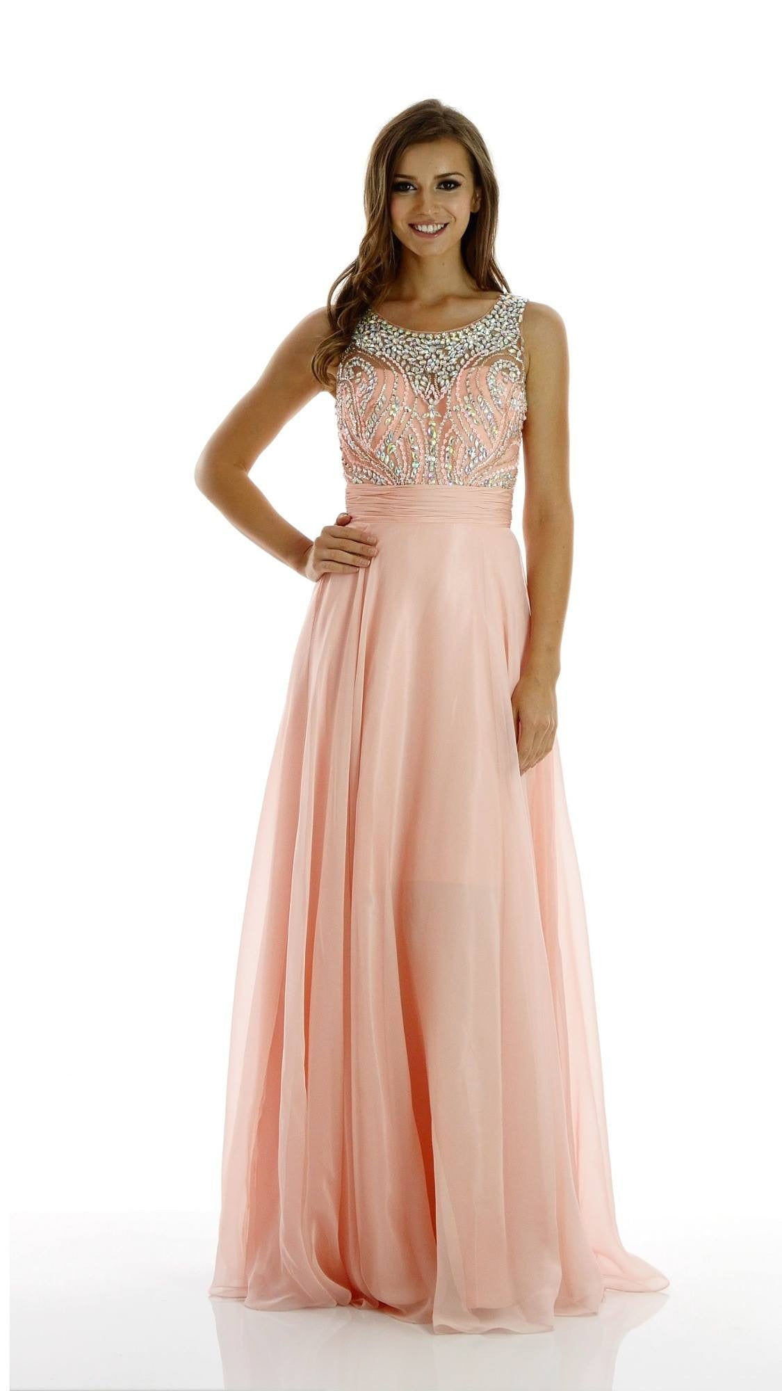 Sexy prom dresses gorgeous illusion neckline dress w simply fab 101 7136 prom cheap gorgeous illusion neckline dress with full rhinestone bodice and back ombrellifo Choice Image