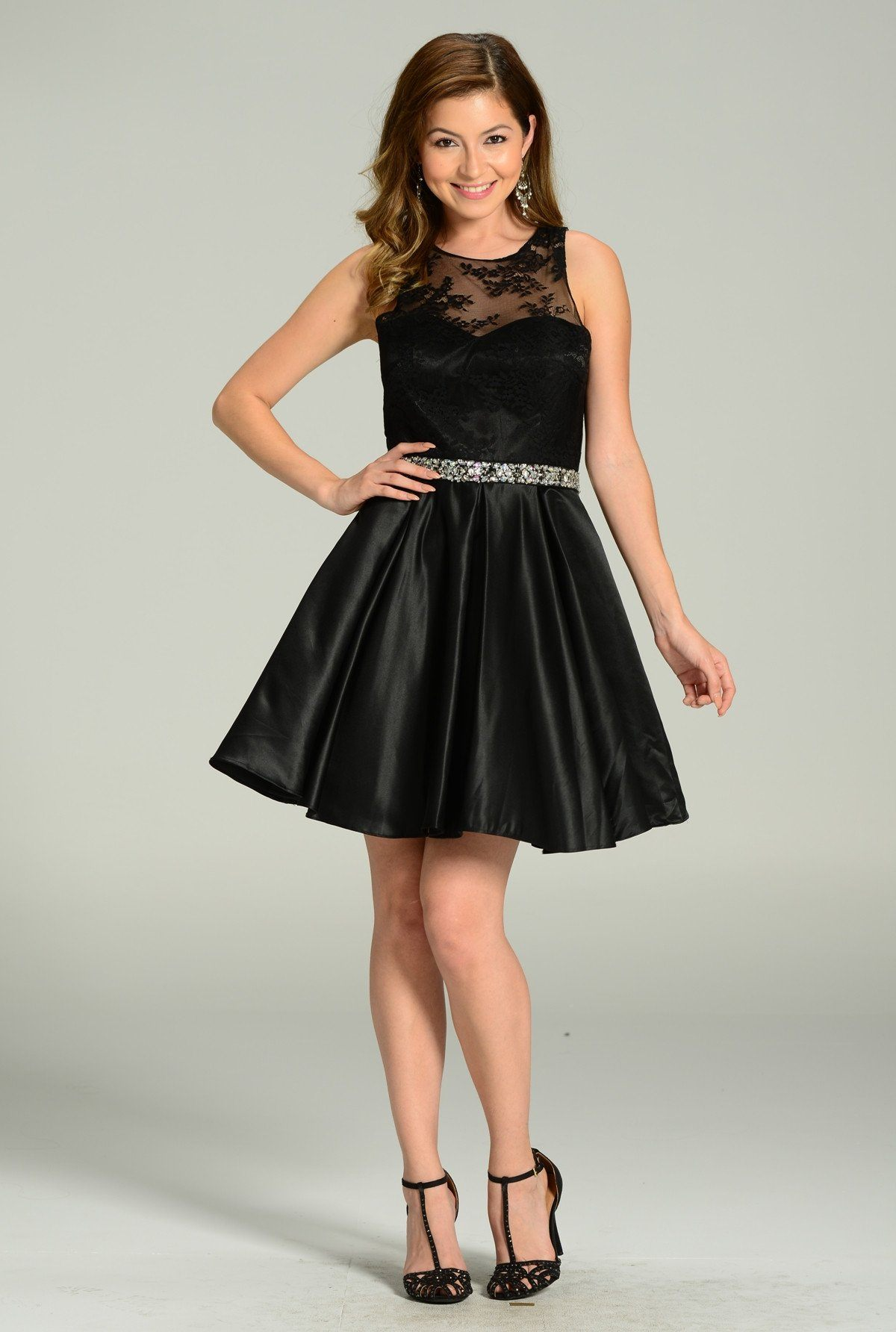 Sexy little black homecoming dress 101-7214 - Simply Fab Dress