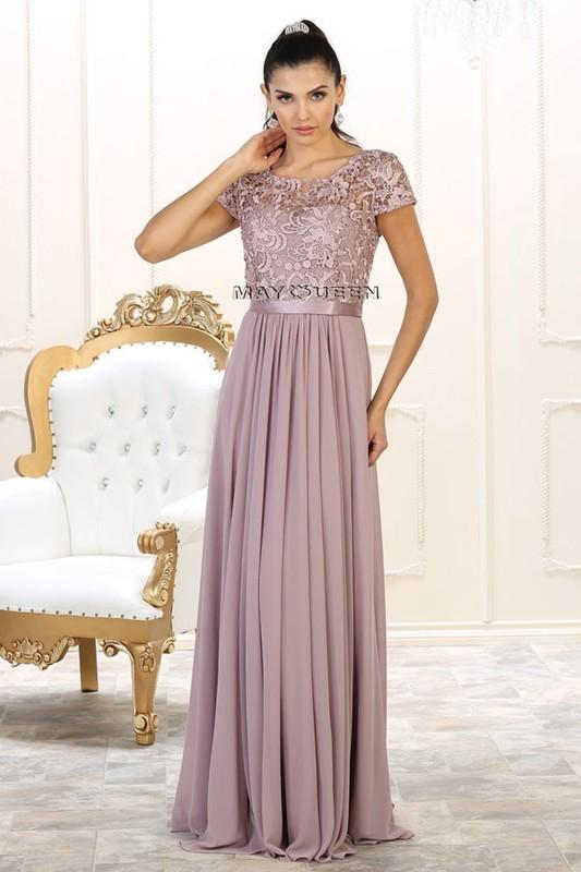 Cap sleeve Plus Size Prom Dress & Gown MQ1486-Simply Fab Dress